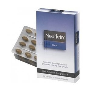 Nourkrin Man Hair Nutrition Recovery Programme for MEN 60 Tablets. 1 Months supply, Conditions & nourishes thinning hair and promotes growth of hair
