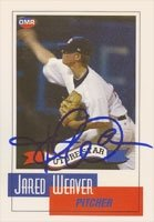 Jared Weaver Anaheim Angels 2006 OMR Autographed Hand Signed Trading Card - Nice... by Hall+of+Fame+Memorabilia