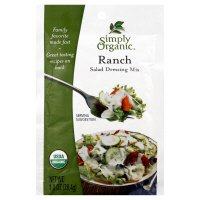 Simply Organic Salad Dressing Mix, Ranch, 1 oz, (pack of 3)