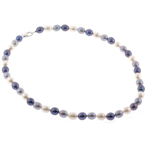 Freshwater Pearl Fashion Necklace - Beige, Lavender - 18'' Length, 8-9mm Pearls
