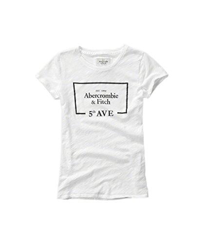 abercrombie-fitch-t-shirt-femme-blanc-blanc-medium