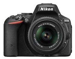 Nikon Digital SLR D5500 Combo Kit With AF-S DX 18-55mm VR II and AF-S DX 55-200mm VR II Lens Kit (Black)