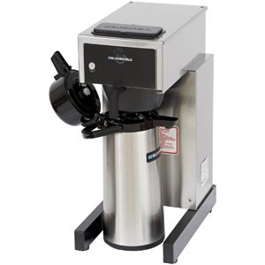 "Bloomfield 8785-A Gourmet 1000 Airpot Brewer, Pour-Over Option, 14"" Depth, 10"" Width, 21 1/2"" Height front-403985"