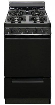 Premier-SHK100BP-ADA-Compliant-Black-20-Sealed-Gas-Range-with-24-Cu-Ft-Capacity-Four-Sealed-9-100-BTU-Burners-4-Porcelain-Backguard-and-17-000-BTU-Oven-Burner-For-Natural-or-LP