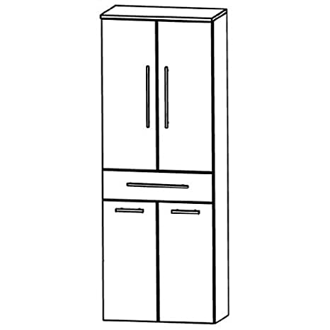 In Kera Trends Tall Cupboard (HNA05 6 A7W) Bathroom, 60 cm
