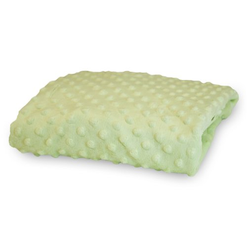 Rumble Tuff  Minky Dot Changing Pad Cover, Sage,Compact