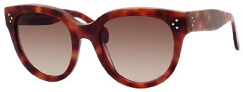 Celine Celine 41755 GXW Red Audrey Cats Eyes Sunglasses Lens Category 3