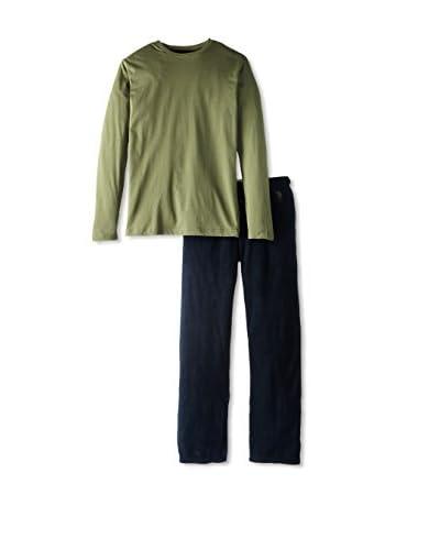 U.S. POLO ASSN. Men's Jersey Crew and Microfleece Pant Pajama Gift Set