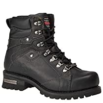 Hot Sale Milwaukee Motorcycle Clothing Company Jackhammer Leather Men's Motorcycle Boots (Black, Size 11.5D)