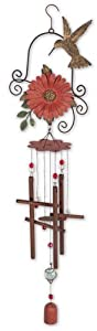 Sunset Vista Designs Hummingbird Chime, 29.5-Inch