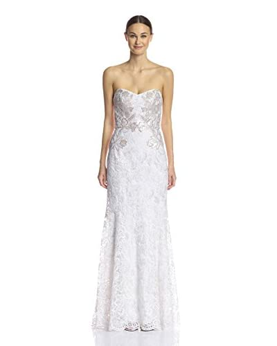 Marchesa Notte Women's Sleeveless Sweetheart Trumpet Gown  [Ivory]