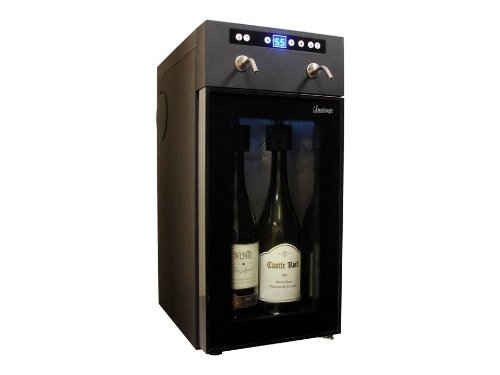 Vinotemp VT-WINEDISP2 2 Bottle Wine Dispenser, Black