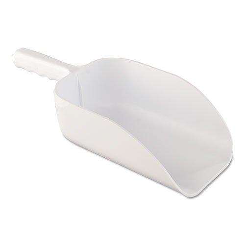 Adcraft Plastic Scoop, 82 oz, White, 14