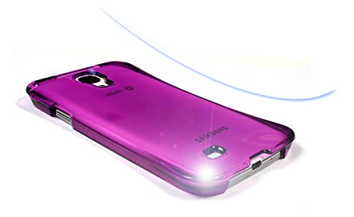 S4 Case, Samsung Galaxy S4 Curved Aqua Crystal Hard Smartphone Carrying Case, Clear Slim Fit Mobile Cover With Anti-Shock, Water Resistance (Purple)
