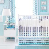 New Arrivals 3 Piece Crib Bed Set, Piper in Gray