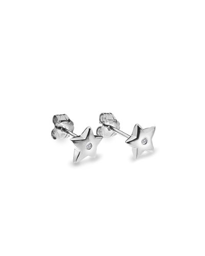 Lily & Lotty for Girls Silver Diamond Stud Earring