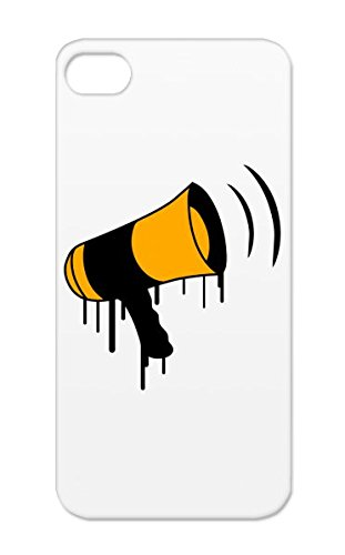 Speaker Graffiti Tpu Say Shouting Party Speaker Miscellaneous Music Dj Celebrate Loud Megaphone Funny Audio Drop Resistant Orange For Iphone 5S Protective Case