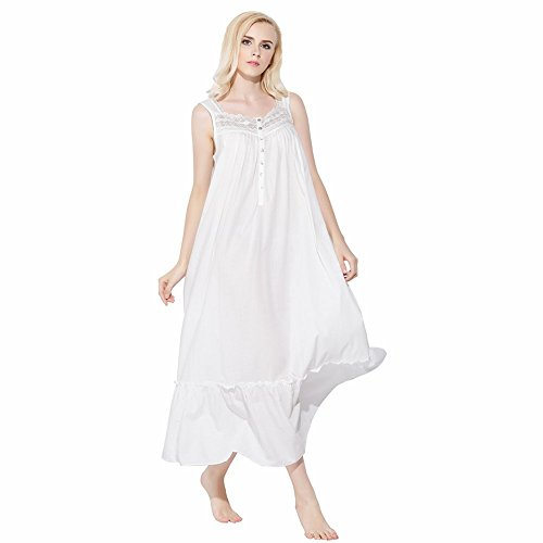 jinyufeng-womens-casual-square-neck-sleeveless-lace-long-sleepdress-white-dk6212-l-xl