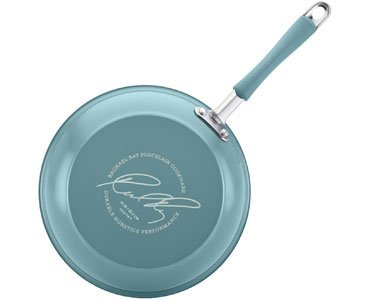 Rachael Ray Cucina Porcelain Enamel Nonstick 12-Piece Cookware Set, Agave Blue