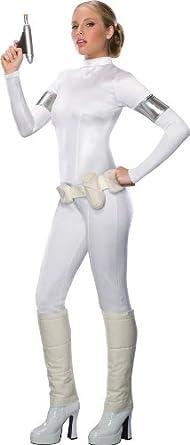 Secret Wishes Star Wars Sexy Padme Amidala Costume, White, Medium
