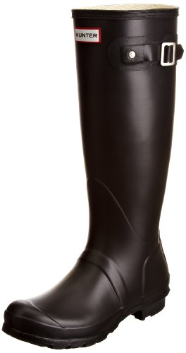 Hunter - Original Tall Classic, Stivali, unisex, Nero (Black), 39