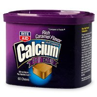Rite Aid Calcium Soft Chews, 500mg, Plus Vitamins D and K, Rich Caramel Flavor 60 ea