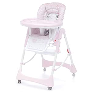 Cambrass 58 x 82 x 107cm Baby Party Highchair (Classic Pink)