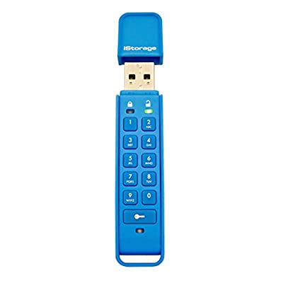 Istorage Is-Fl-Dap-Db-32 Datashur Personal 32Gb 256 Bit Usb Flash Drive -Blue