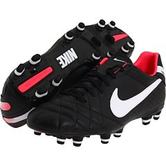 Women's Nike Tiempo Mystic IV Firm Ground Football Boots Black/White/Solar Red Pink (7.5UK / 42EU)