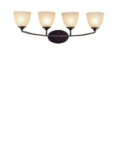 Trans Globe Lighting Pullman 4-Light Bath Bar, Rubbed Oil Bronze As You See