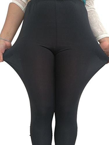 Modale extrasize da donna una base solida di colore Capri Leggings