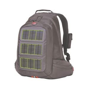 Solar Charging Backpack, Green Panels