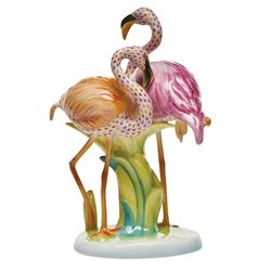 Herend Flamingo Duet Reserve Collection