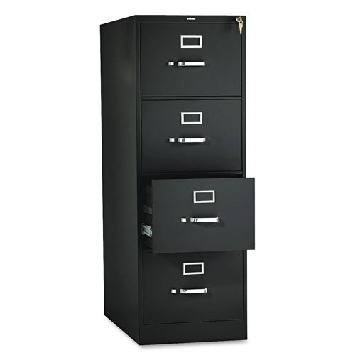 HON 314CPP 310 Series 26-1/2-Inch 4-Drawer Full-Suspension Legal File, Black