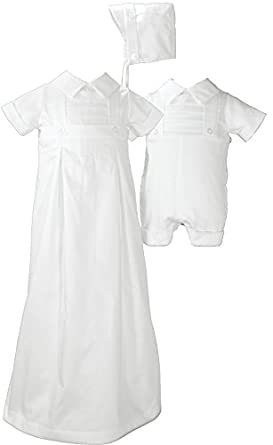 Little Things Mean a Lot Arthur Cotton Convertible Set, White, 3 to 6 months
