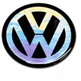 VW Volkawagen Black Key Badge Logo 14mm / VW Schlüssel Schriftzug Logo Emblem Schwarz Durchmesser 14mm