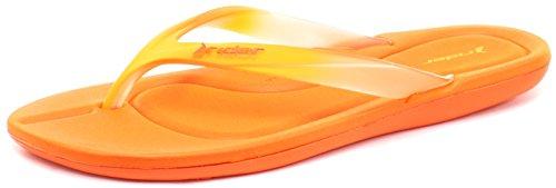 Lunar Damen Smoothie II Dusch-& Badeschuhe, Orange
