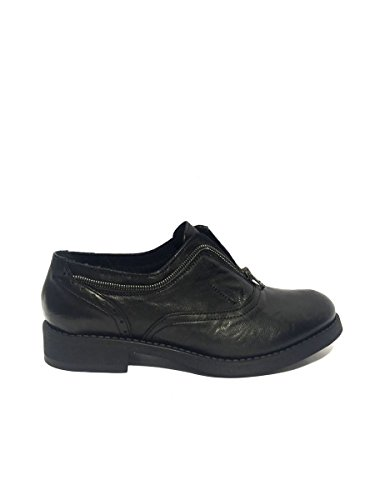 Francesine DV1505/44 in pelle slip on nero con zip 37, nero MainApps