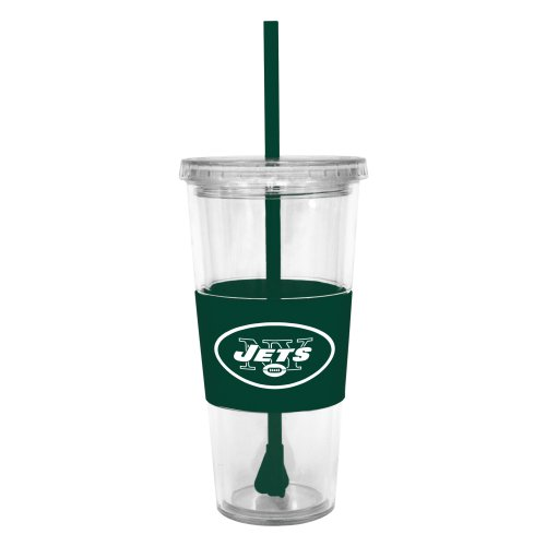NFL New York Jets Lidded Cold Cup with Straw at Amazon.com