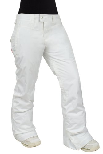 Betty Rides Women's Classic Rocker Pant, White, X-Large