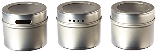 Kamenstein Magnetic Multi-Purpose Spice Storage Tins, Set of 3 (Replacement Spice Rack Jar compare prices)