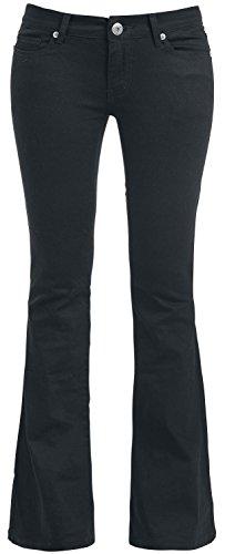 Gothicana by EMP Strapped Bootcut Pants Pantaloni donna nero W31L34