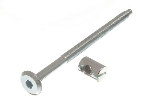 Furniture Cot Bed Bolt Allen Head With Barrel Nut 6Mm M6 X 100Mm Zp Pack Of 4 (Cabinet Joining Screws compare prices)