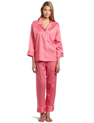 Natori Women's Essence Notch Pyjama, Salmon, Large