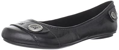 Dr. Scholl's Women's Fielding Ballet Flat,Black Leather,5.5 M US