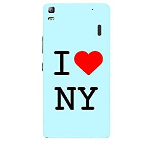 Skin4gadgets I love New York - NY Colour - Light Blue Phone Skin for LENOVO A7000