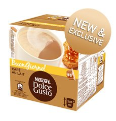 nestle dolce gusto cafe con leche capsule pods x16. Black Bedroom Furniture Sets. Home Design Ideas