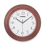 Lorell Wall Clock with Arabic Numerals 13-1/4-Inch Mahogany Frame