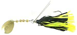 Hildebrandt Sally Snagless Lure, 1/4-Ounce, Black/Yellow