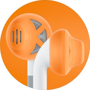 Earskinz Earbud Covers (Es1) - Orange - For Iphone 4S / 4 / 3Gs / 3G, Ipod Touch, Ipod Nano. One Size